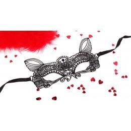 Маска ажурная EROWOMAN-EROMAN Кэтти текстиль, черная