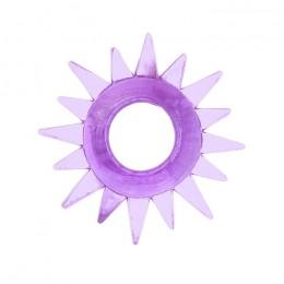 Эрекционное кольцо TOYFA с треугольными шипами фиолетовое