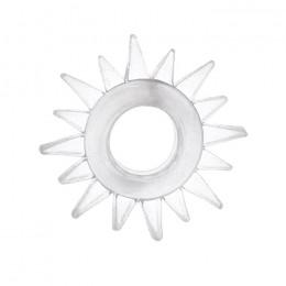 Эрекционное кольцо TOYFA с треугольными шипами прозрачное
