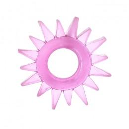 Эрекционное кольцо TOYFA с треугольными шипами розовое
