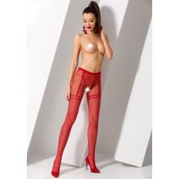 Колготки Passion Erotic Line с доступом красные OS